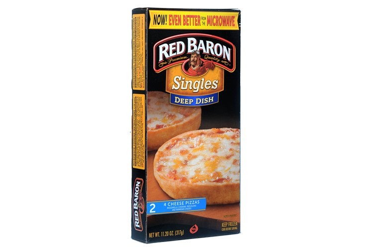 Red Baron Deep Dish Singles 2 Four Cheese Pizza 317gx12